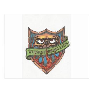 whiskey rebellion logo post cards