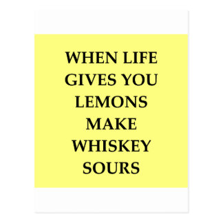 whiskey sours post card
