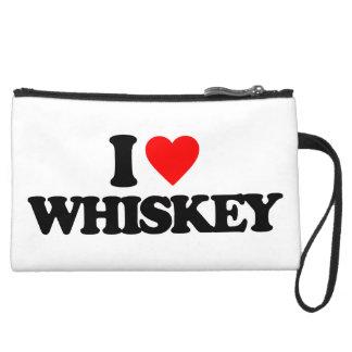 Whiskey Suede Wristlet