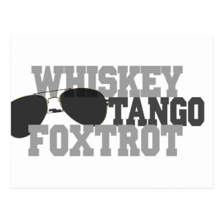 Whiskey Tango Foxtrot - Aviation sun glasses Post Cards