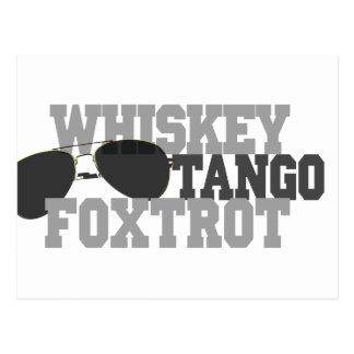 Whiskey Tango Foxtrot - Aviation sun glasses Post Cards