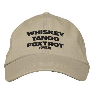 Whiskey Tango Foxtrot (over) Baseball Cap