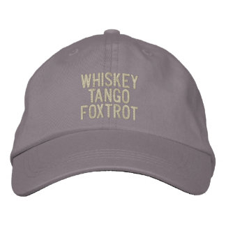 Whiskey Tango Foxtrot Pilot Hat Embroidered Cap