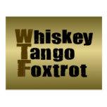 Whiskey Tango Foxtrot Postcard