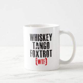 Whiskey Tango Foxtrot - WTF - Black Coffee Mug
