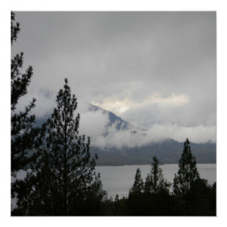 Whiskeytown Lake with the misting  fog... Poster