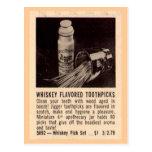 """Whisky Toothpicks"" Postcard"