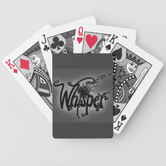 Whisper Art Playing Cards (Black)