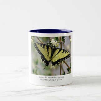 Whisper Butterfly Two-Tone Coffee Mug