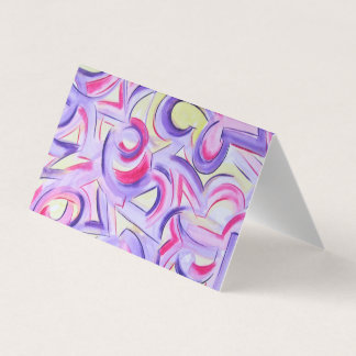 Whisper Down The Alley-Abstract Art Brushstrokes Business Card