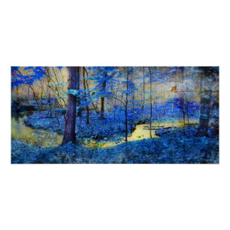Whisper, Nature landscape poster, blue landscape,