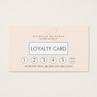 Whisper Pink Elegant Minimalist Loyalty Card