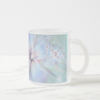whispering lilac frosted glass coffee mug