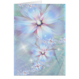 Whispering lilac greeting card
