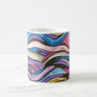 Whispering Tree-Abstract Art Handpainted Basic White Mug