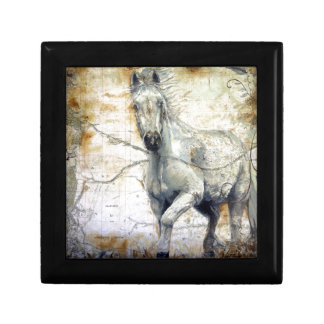 Whispers Across the Steppe Small Square Gift Box