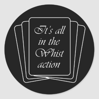 Whist Action Classic Round Sticker