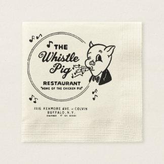 Whistle Pig Restaurant Paper Napkin