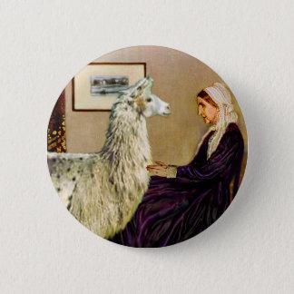Whistler's Mother's Llama 6 Cm Round Badge