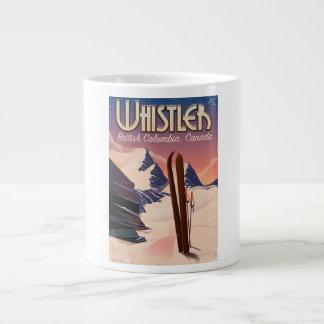 Whistler,Vancouver, British Columbia Ski poster Large Coffee Mug