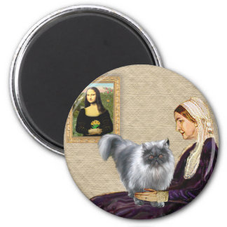 Whistlers Mother - Blue Smoke Persian 6 Cm Round Magnet