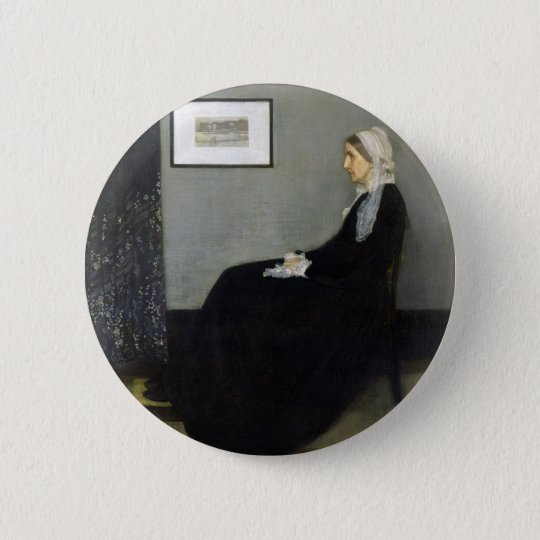 Whistler's Mother by James Abbott McNeill Whistler 6 Cm Round Badge