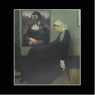 Whistler's Mother got Gassed Standing Photo Sculpture