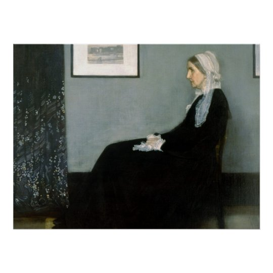 Whistler's Mother - Reproduction Art Poster