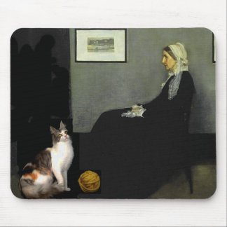 Whistler's Mother's Cat Mouse Mat