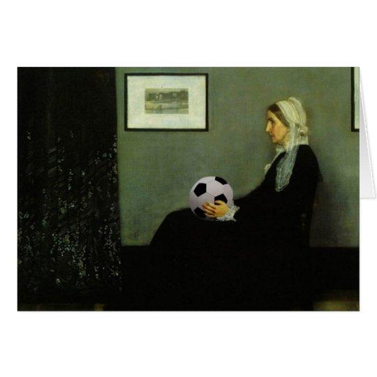 Whistler's Soccer Mum Greeting Card