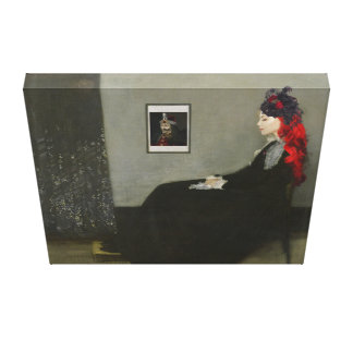 Whistler's Vampire Painting 18x16 Stretched Canvas Print