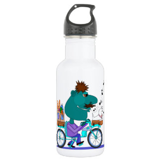 Whistling bicycle rider 532 ml water bottle