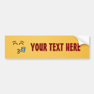 Whistling Face with Smiling Eyes Bumper Sticker