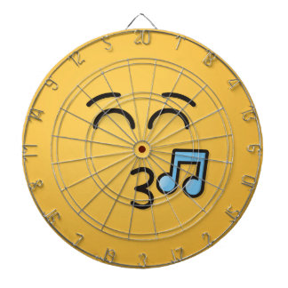 Whistling Face with Smiling Eyes Dartboard