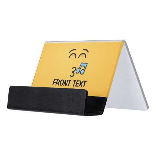 Whistling face with smiling eyes desk business card holder zazzle whistling face with smiling eyes desk business card holder reheart Images