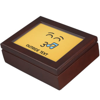 Whistling Face with Smiling Eyes Keepsake Box