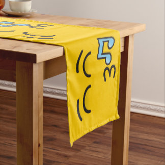 Whistling Face with Smiling Eyes Short Table Runner