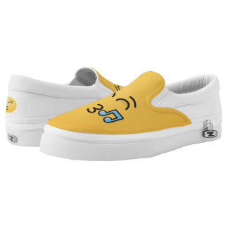 Whistling Face with Smiling Eyes Slip-On Shoes