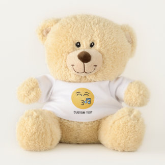 Whistling Face with Smiling Eyes Teddy Bear