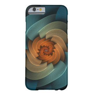 Whistling in the Dark Abstract Blue Spiral Barely There iPhone 6 Case