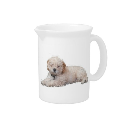 Whit Poodle Drink Pitchers
