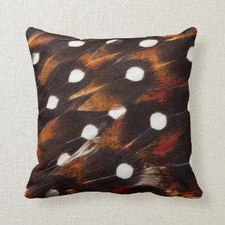 Whit Spotted Feather Design Cushion