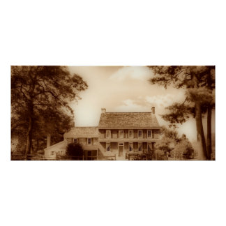 Whitall House  Sepia HDR Poster