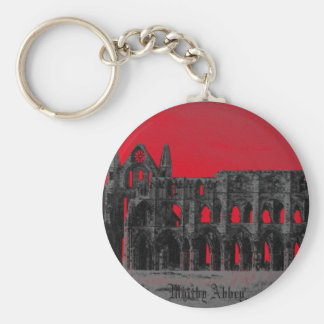 Whitby Abbey Basic Round Button Key Ring