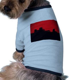 Whitby Abbey Goth Doggie T Shirt