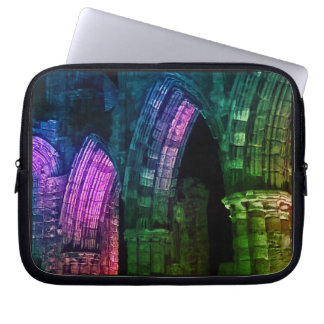 Whitby abbey Gothic colourful ruins Laptop Sleeve