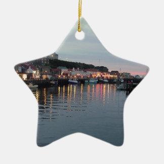 Whitby at dusk christmas ornament