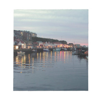 Whitby at dusk memo notepads
