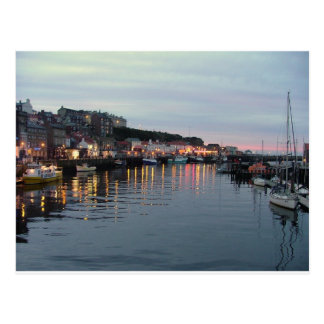 Whitby at dusk postcard