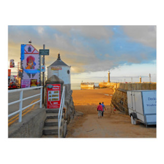 Whitby Beach Postcard